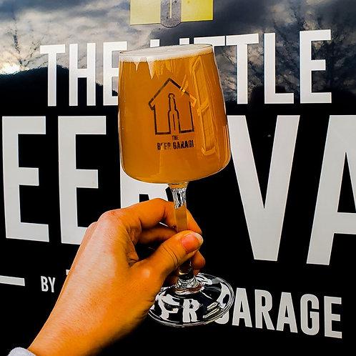 Beer Garage Stemmed Glass (Gold Version)