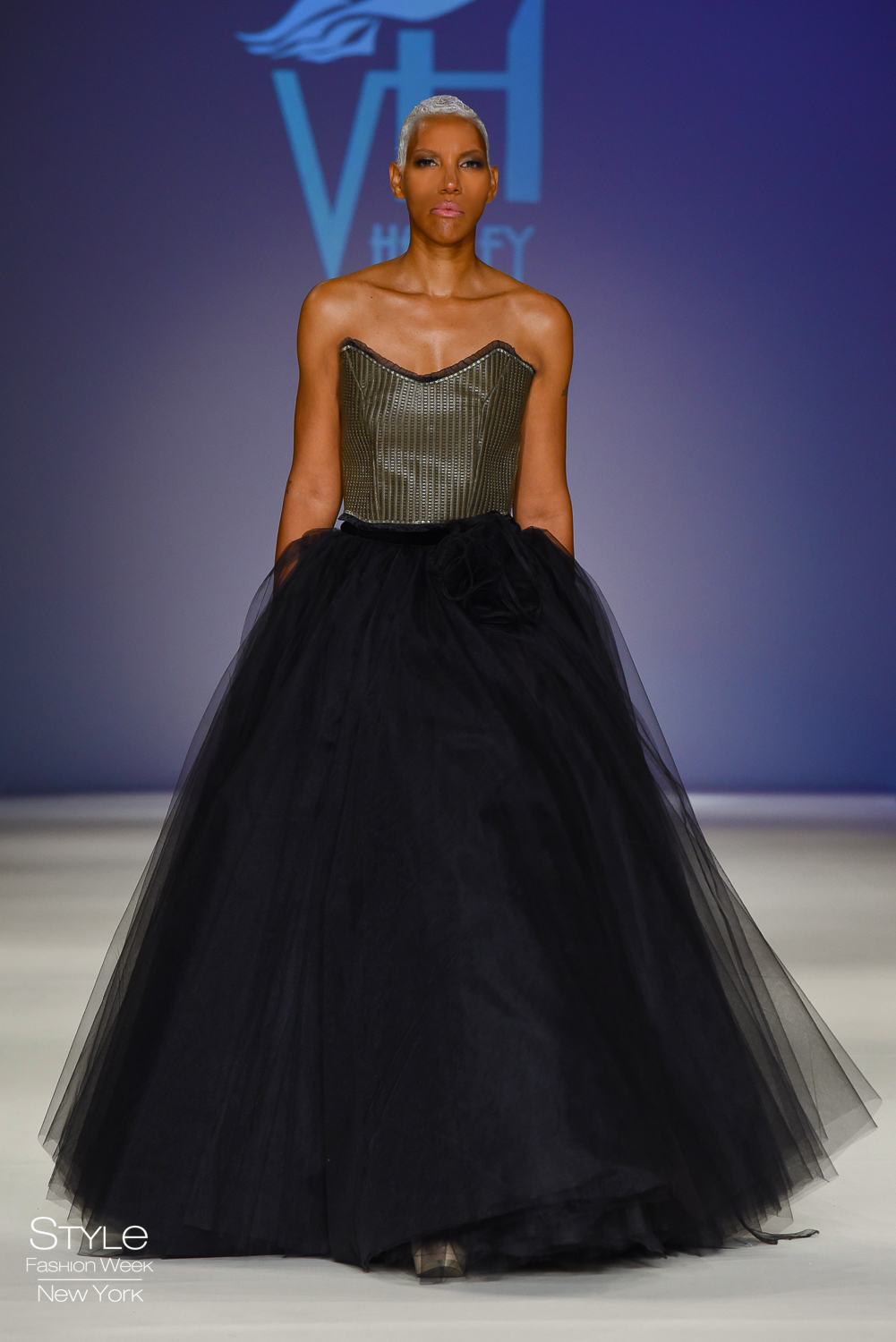 embosses leather halter with ball gown.jpg