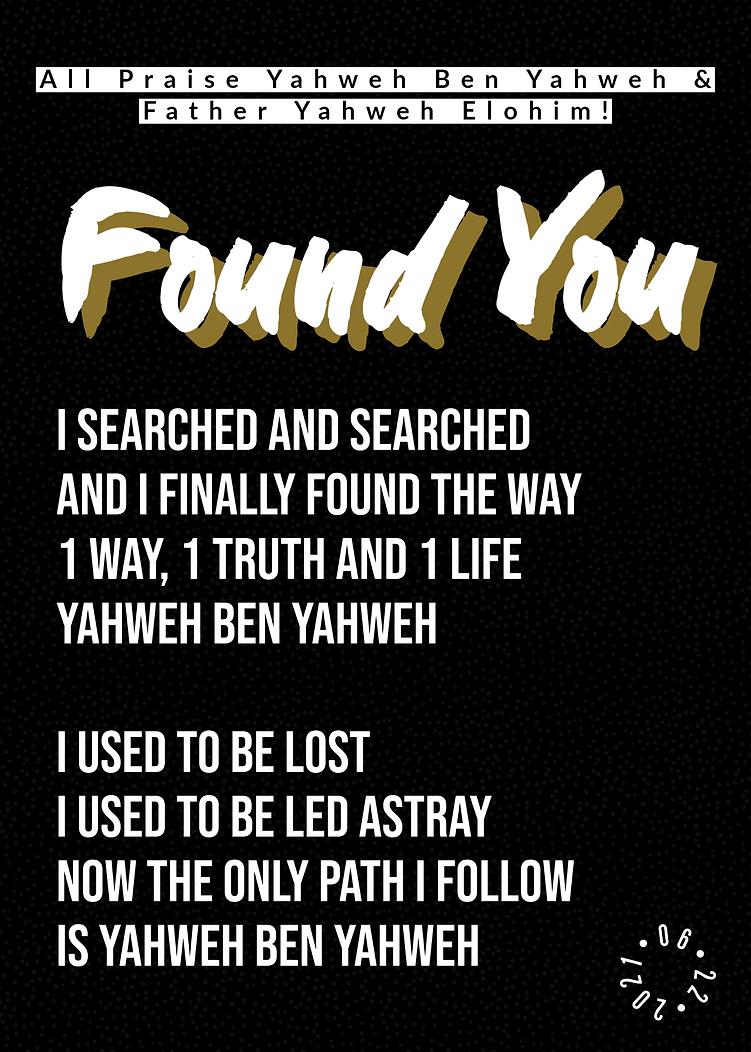 Found You (06_22_2021)