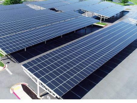 Não há espaço no telhado? Sem problemas! Estacionamentos solares são a solução.
