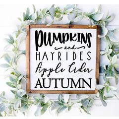 pumpkins and hayrides