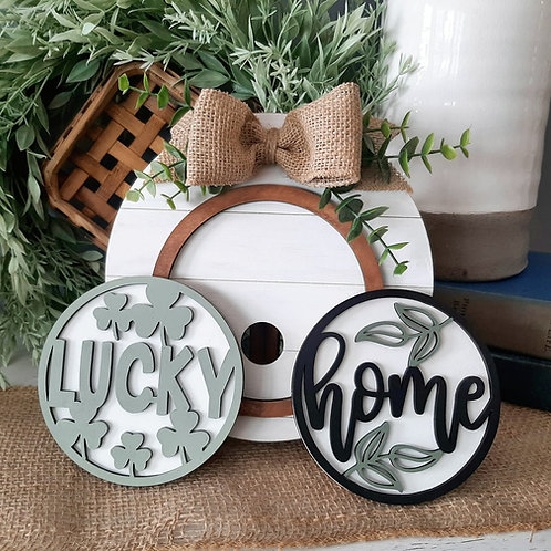 DIY Shiplap Circle Frame with Two Inserts