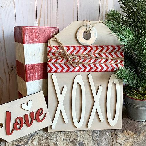 DIY XOXO Love Door Hanger