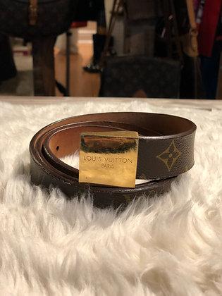 Louis Vuitton Monogram Carré Belt