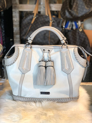 Burberry Tassel-Accented Leather Satchel