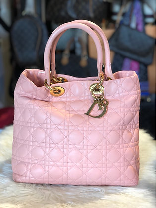 Christian Dior Cannage Quilted Tote