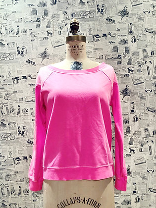 """Chaser """"Lucky Pink"""" Reverse Shoulder Sweater"""