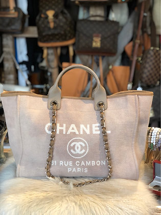 Chanel Large Deauville Shopping Tote