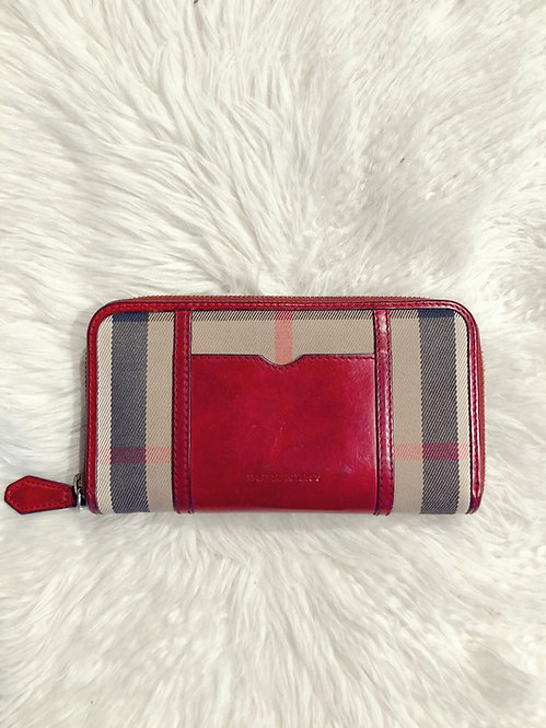 Burberry House Check Ziggy Zip Wallet
