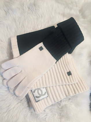 Chanel Scarf & Gloves