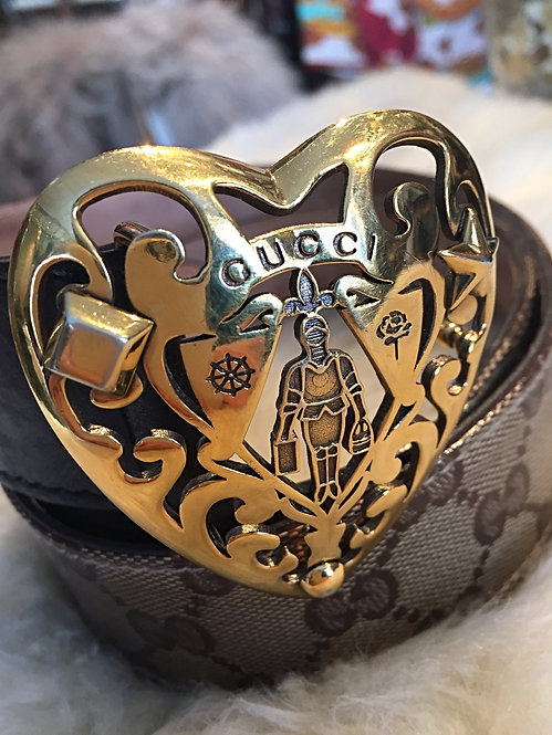 Gucci Gold Heart Buckle