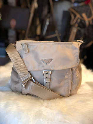 Prada Vela Nylon Messenger Bag