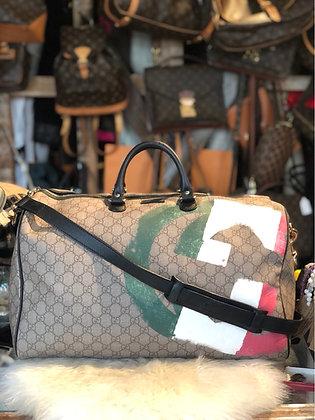 Gucci Italian Flag GG Supreme Duffle Bag