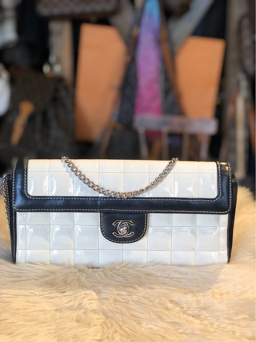 Chanel Chocolate Bar East West Flap Bag