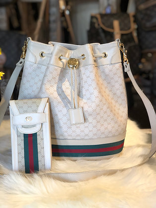 Gucci Vintage GG Plus Bucket Bag