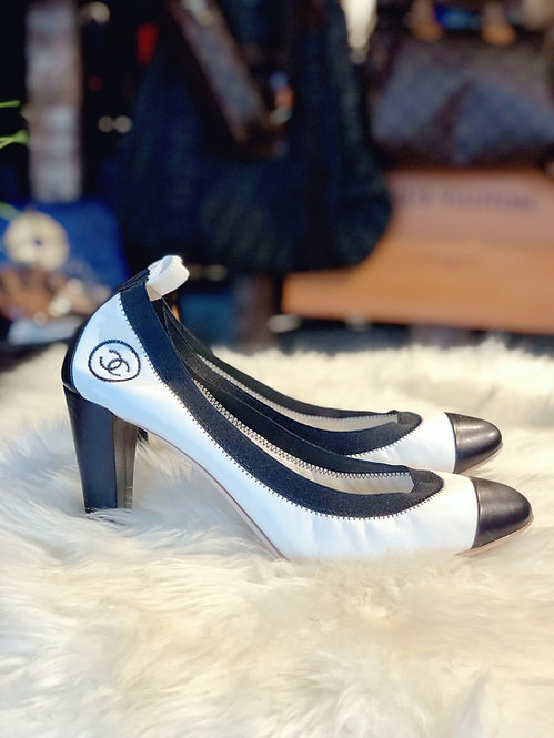 Chanel CC Stretch Pumps