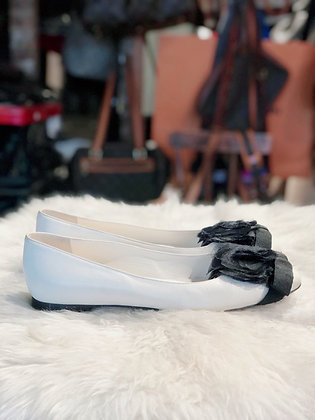 Chanel Leather Camellia Flats
