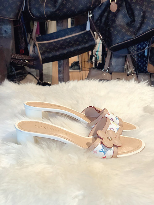 Louis Vuitton Multicolor Slide Sandals