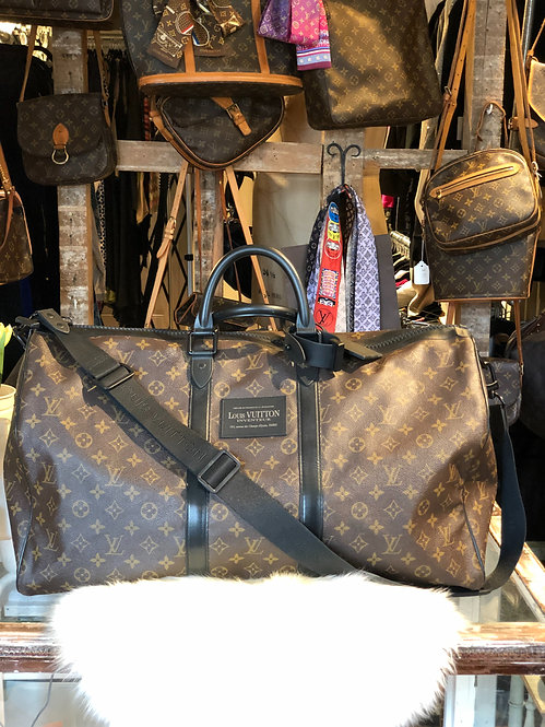 Louis Vuitton Waterproof Monogram Keepall 55