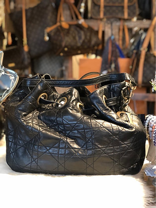 Christian Dior Cannage Drawstring Tote