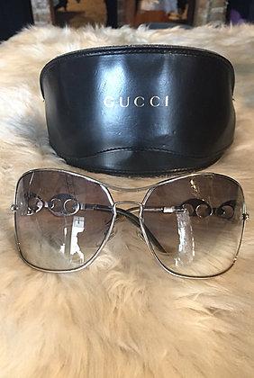 Gucci Oversize Chain-link Sunglasses