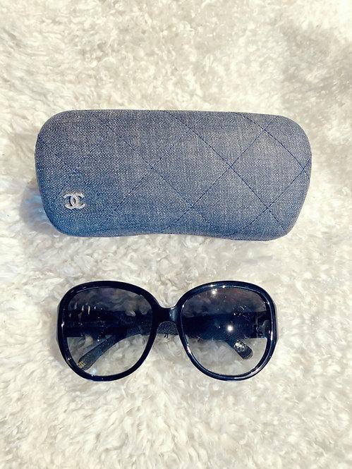 Chanel CC Denim Sunglasses