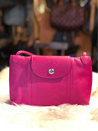 . Longchamp Le Pliage Cuir Mini Crossbody Bag