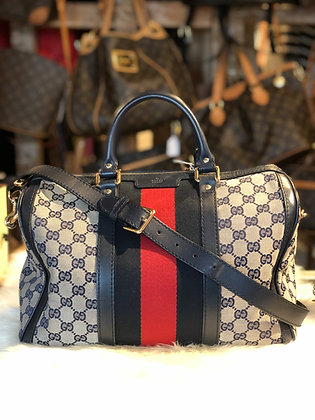 Gucci Vintage Web Original Boston Bag