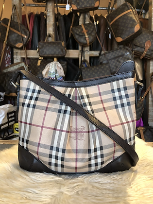 Burberry Haymarket Crossbody Bag
