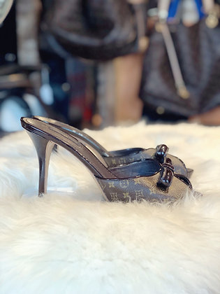 Louis Vuitton Monogram Peep-Toe Sandals