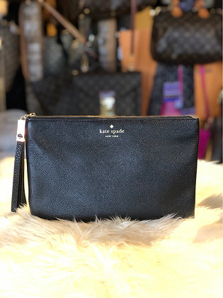 Kate Spade Grey Street Gia Leather Clutch