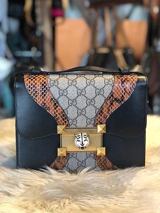 Gucci Osiride Medium GG Supreme Python Bag