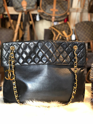 Chanel Vintage CC Quilted Tote