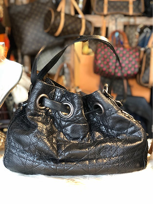 Christian Dior Python Cannage Drawstring Tote