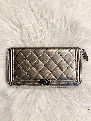 Chanel Boy L-Gusset Wallet