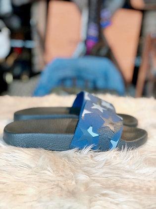 Valentino Star Camo Slide Sandals
