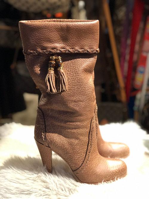 Gucci Mid-Calf Tassel Boots