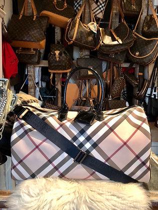 Burberry Nova Check Boston Travel Bag