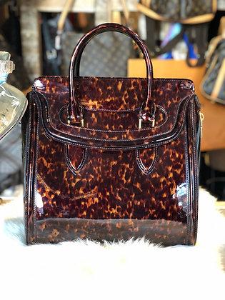 Alexander McQueen Turtoise Medium Heroine Satchel Bag