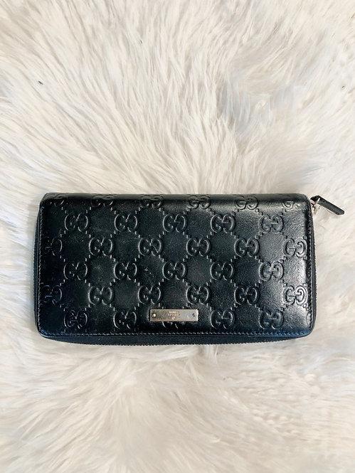 Gucci Guccissima Zip-Around Wallet