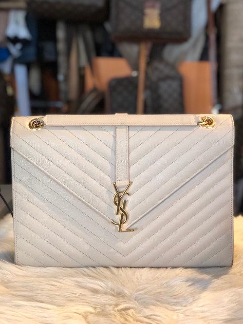 Yves St Laurent Large Monogram Envelope Bag