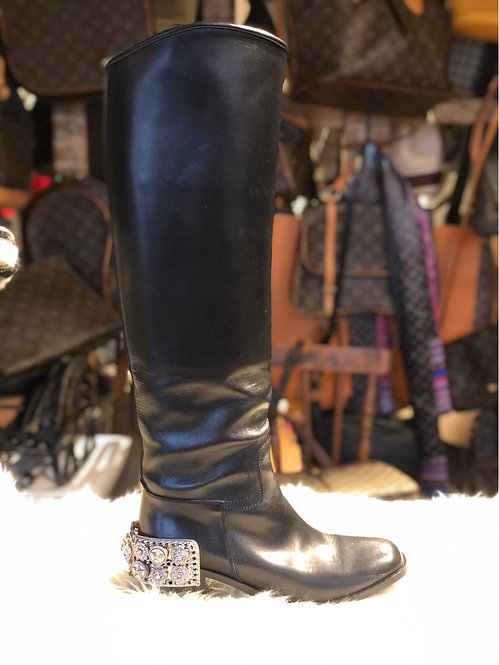Chanel Paris-Monte Carlo Knee High Boots