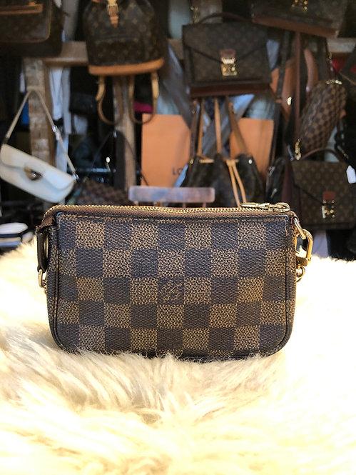 Louis Vuitton Damier Ébène Mini Pochette Accessoires