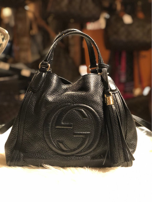 Gucci Small Leather Soho Satchel