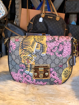 Gucci Bengal GG Supreme coated canvas Gucci shoulder bag