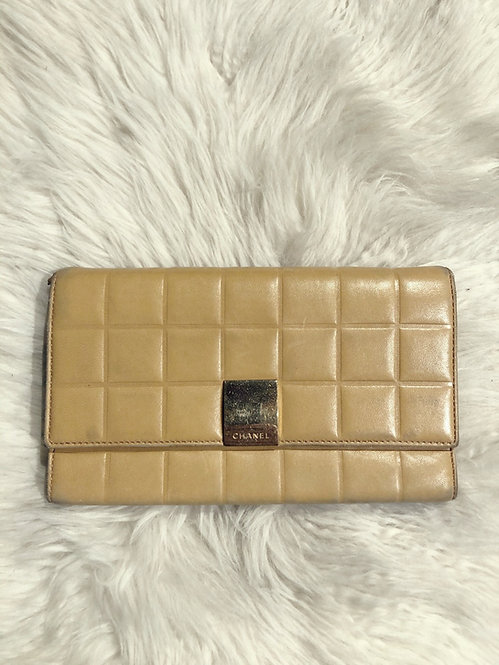 Chanel Chocolate Bar Wallet