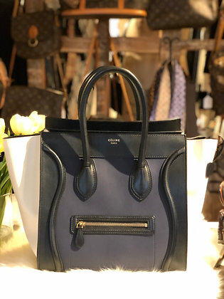 Céline Tricolor Mini Luggage Tote