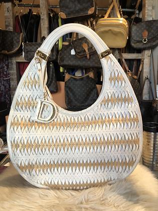 Twist Diorita Contrast Medium Beige Leather Hobo Bag