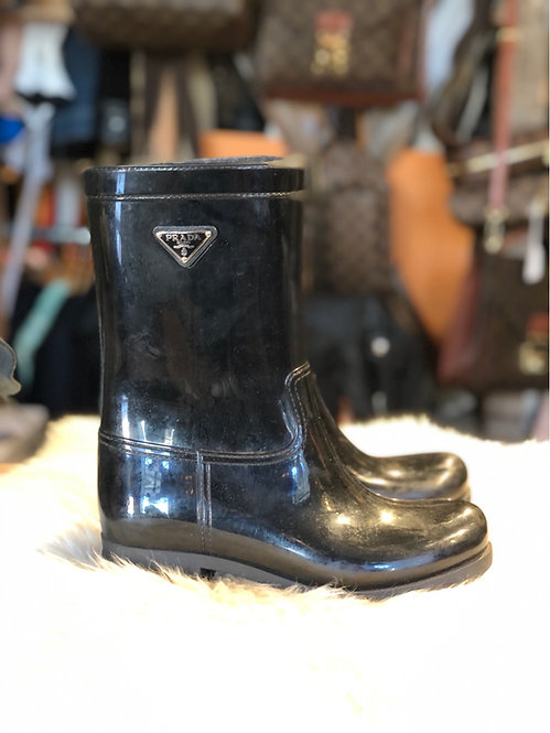 Prada Sport Rubber Rain Boots