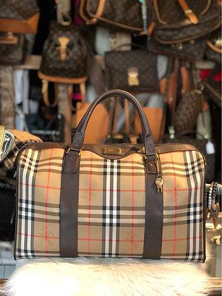 Burberry Haymarket Check Travel Bag